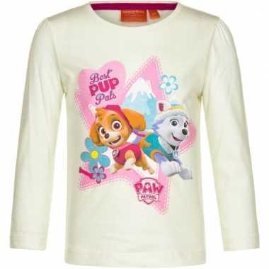 Paw patrol shirt gebroken wit voor meisjes