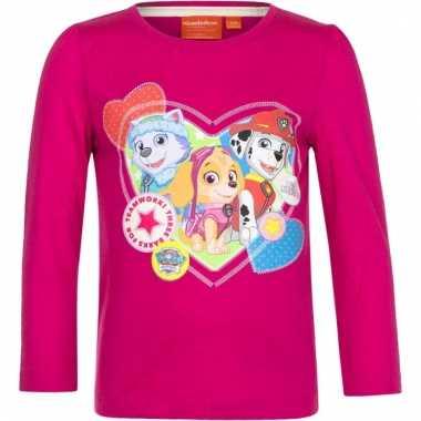 Paw patrol shirt roze voor meisjes