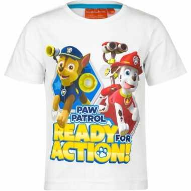 Paw patrol wit kinder shirt van katoen