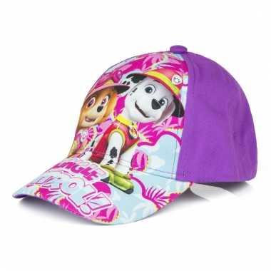 Paw patrol zomer petten/caps paars voor kids
