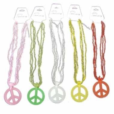 Peace ketting gekleurd