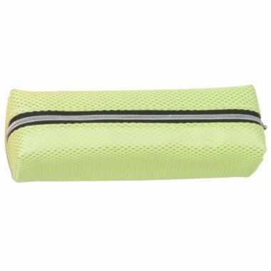 Pennen etui neon groen 19 cm