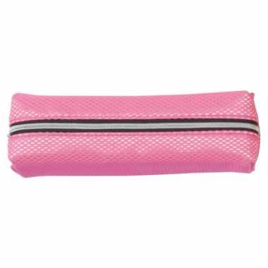Pennen etui neon roze 19 cm
