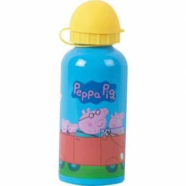 Peppa big aluminium bidon 400 ml