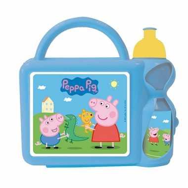 Peppa big lunchbox blauw nickelodeon