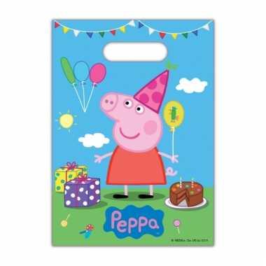 Peppa pig wegwerp snoepzakjes 8 stuks