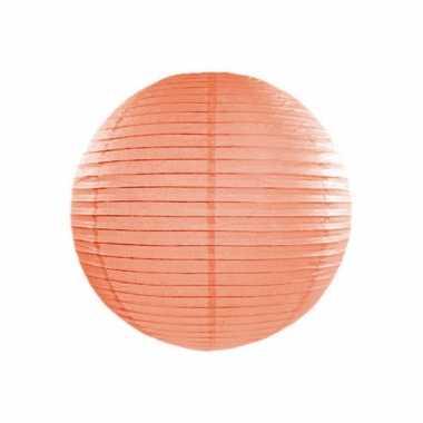 Perzik kleurige bol lampion 25 cm