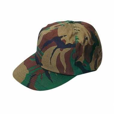 Pet / cap voor volwassenen met camouflage