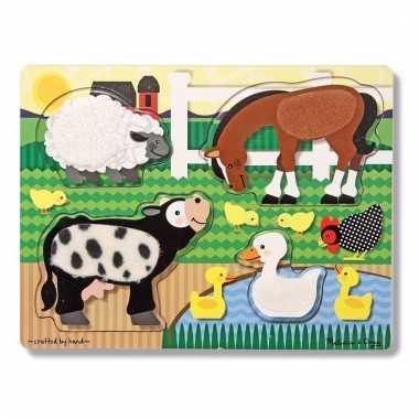 Peuter puzzel met boerderijdieren