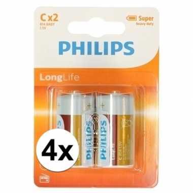Phillips ll batterijen r14 1,5 volt 8 stuks