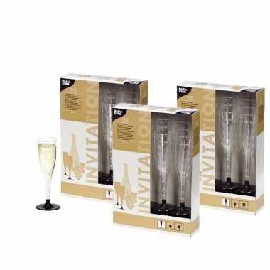 Picknick champagne glazen 60 stuks