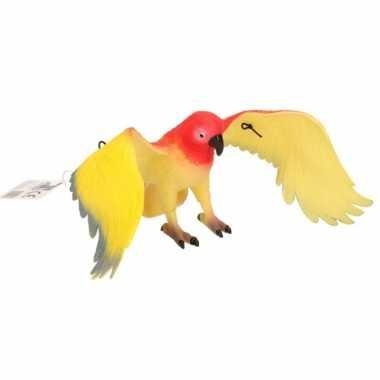 Piep speelgoed rode papegaai 33 cm