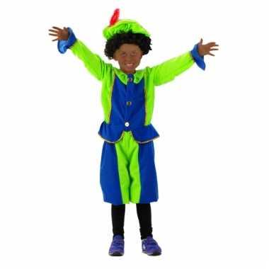 Pietenpakken voor kinderen blauw/groen