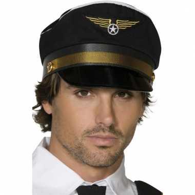 Piloot pet zwart met goud