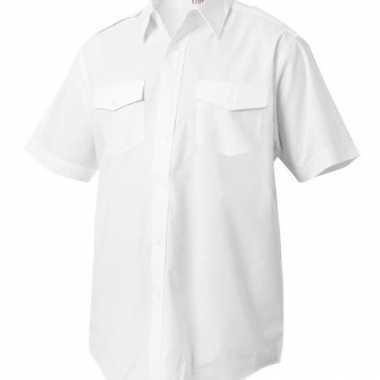Piloten overhemd met korte mouwen