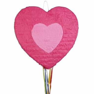 Pinata hartje roze 45 cm