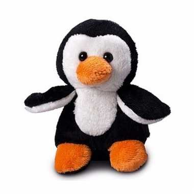 Pinguin knuffeltje 12 cm met label voor boodschap