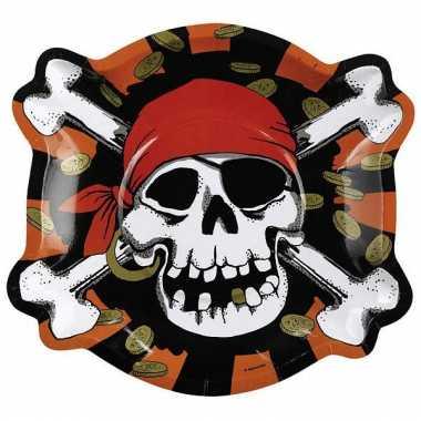 Piraat bordjes voor een kinderfeest