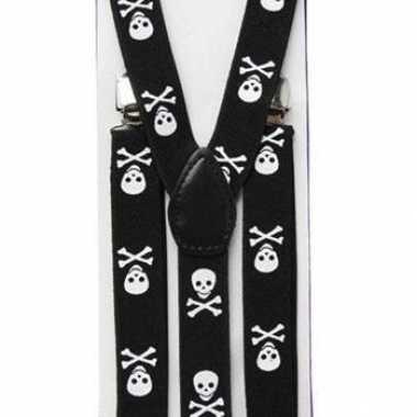 Piraat bretels met schedel motief