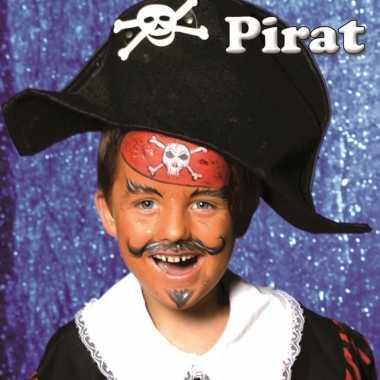 Piraat schminken schminkset 6-delig