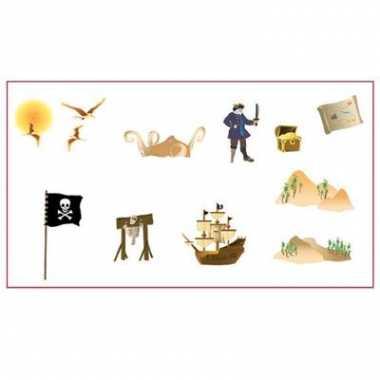 Piraat stickers op scene setter