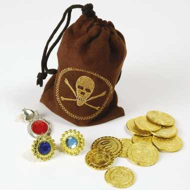 Piraten buidel met goudstukken