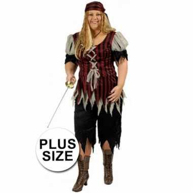 Piraten dames kostuum grote maat
