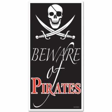 Piraten feest deurposter 150 cm