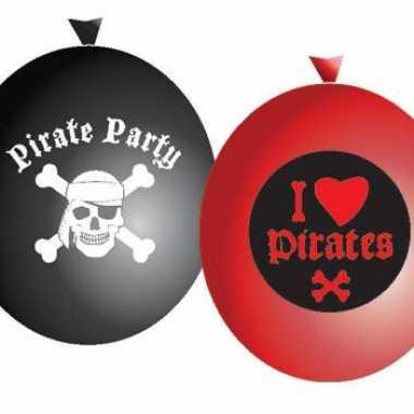 Piraten feestje ballonnen 6 stuks