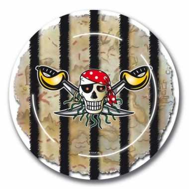 Piraten feestje bordjes 16x
