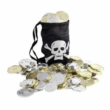 Piraten geldbuidel met munten
