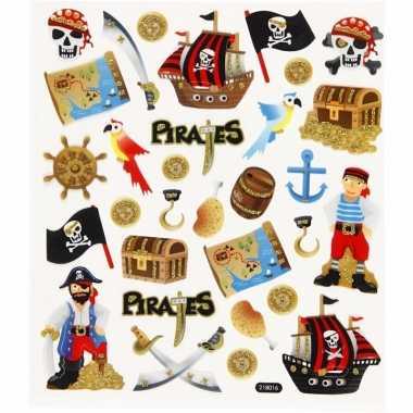 Piraten knutsel stickers