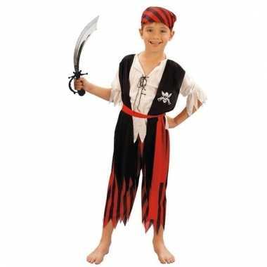 Piraten kostuum maat s met zwaard voor kinderen