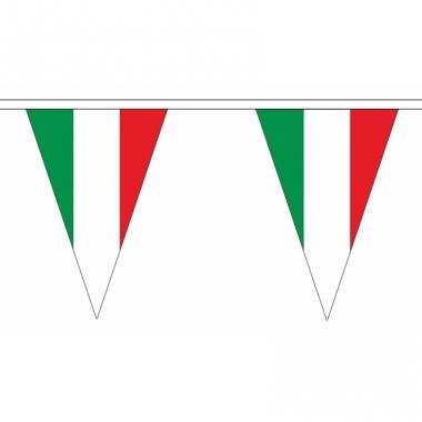 Polyester slinger met italie vlaggetjes
