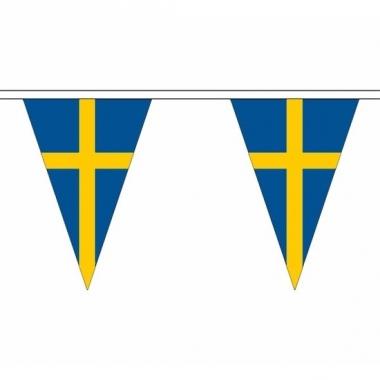 Polyester slinger met zweden vlaggetjes
