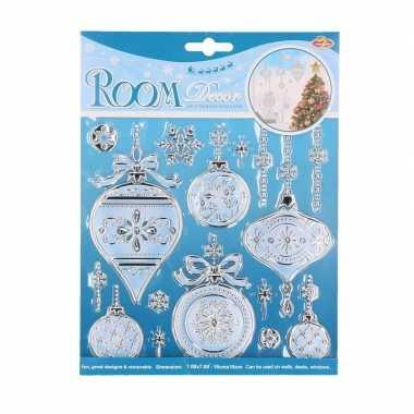 Raam decoratie stickers kerstbal