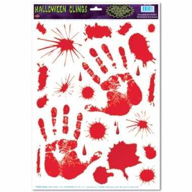 Raam halloween stickers handprint