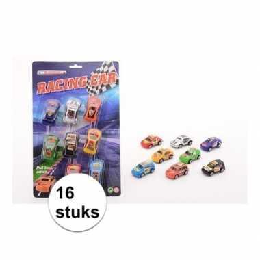 Race auto's 16 stuks