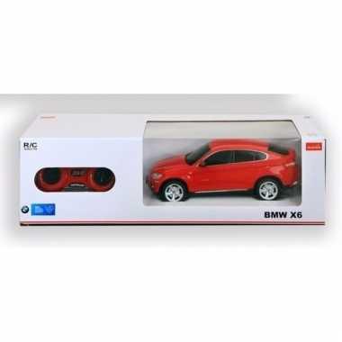Radiografisch bestuurbare rode bmw x6 auto 1 24