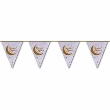 Ramadan mubarak thema vlaggenlijn/slinger 6 meter