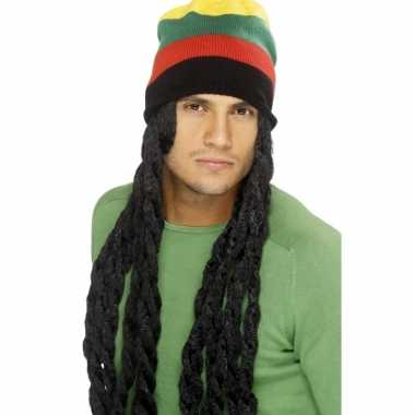 Rastafari muts met dreadlocks