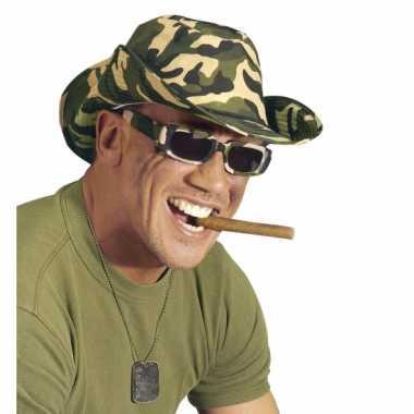 Rechthoekige camouflage bril