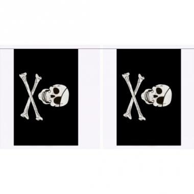 Rechthoekige piraten vlaggenlijn polyester