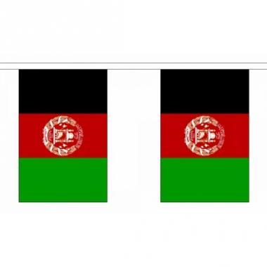 Rechthoekige vlaggenlijn afghanistan