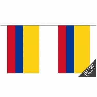 Rechthoekige vlaggenlijn colombia
