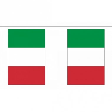Rechthoekige vlaggenlijn italie