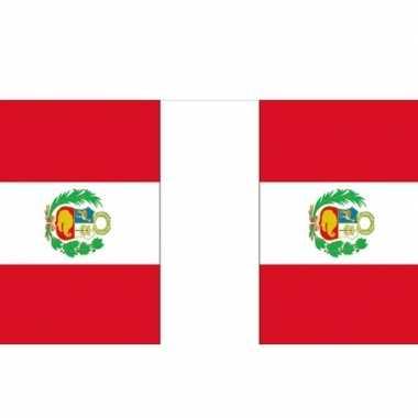 Rechthoekige vlaggenlijn peru