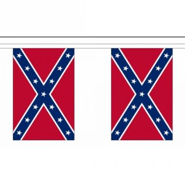 Rechthoekige vlaggenlijn zuidelijke staten usa