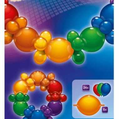 Regenboog ballonnen slinger