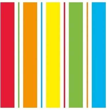 Regenboog kleuren servetten 20 stuks